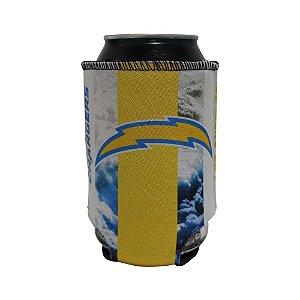 Porta Latinhas Neoprene Los Angeles Chargers NFL Amarelo