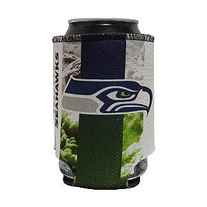 Porta Latinhas Neoprene Seattle Seahawks NFL Verde