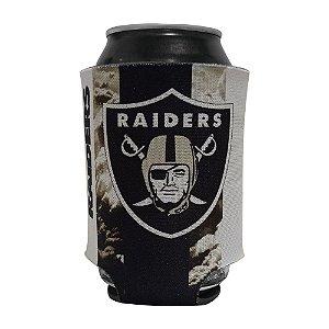 Porta Latinhas Neoprene Las Vegas Raiders NFL Preto