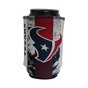 Porta Latinhas Neoprene Houston Texans NFL Azul