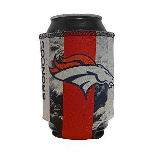 Porta Latinhas Neoprene Denver Broncos NFL Laranja