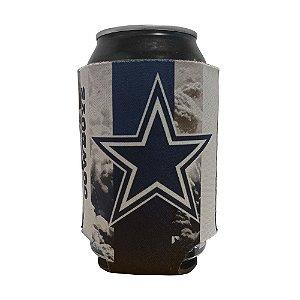 Porta Latinhas Neoprene Dallas Cowboys NFL Azul