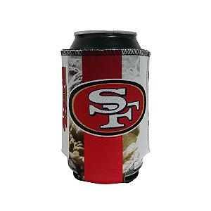 Porta Latinhas Neoprene San Francisco 49ers NFL Vermelho