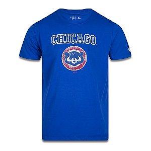 Camiseta New Era Chicago Cubs MLB Cooperstown Crayon Azul
