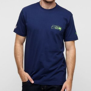 Camiseta Seattle Seahawks Mesh Numbers Azul NFL - New Era