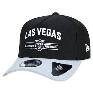 Boné New Era Las Vegas Raiders 940 A-Frame Core Foot Preto