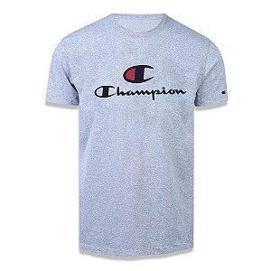Camiseta Manga Curta Champion Big C Script Logo Cinza