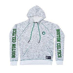 Moletom Canguru Fechado NBA Boston Celtics Branco