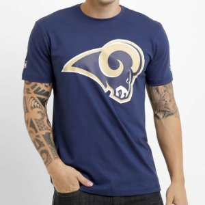 Camiseta Los Angeles Rams NFL Basic Azul - New Era