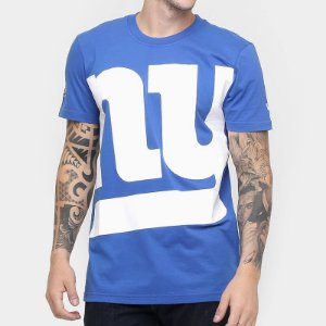 Camiseta New York Giants Oversize Azul - New Era