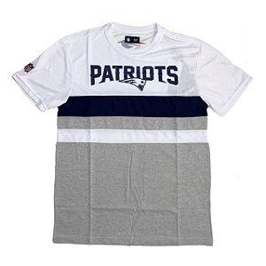Camiseta New England Patriots Stroke cinza/branca - New Era