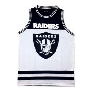 Regata Basketball Oakland Raiders NFL Preto Branco - New Era