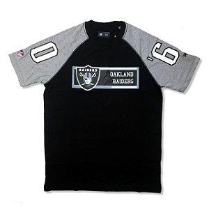 Camiseta Oakland Raiders Raglan Rec - New Era