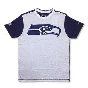 Camiseta Seattle Seahawks Bicolor Branca - New Era