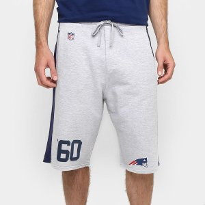 Bermuda Moletom New England Patriots Goal Cinza NFL - New Era