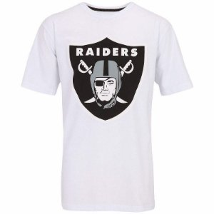 Camiseta Oakland Raiders Basic Logo Branco - New Era