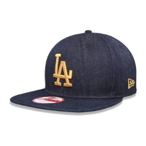 Boné Los Angeles Dodgers 950 Jeans Logo Gold MLB - New Era