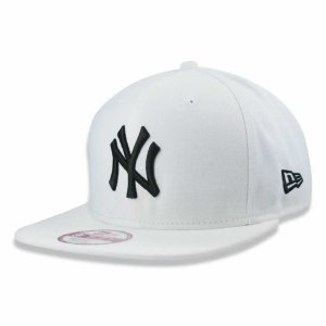 Boné New York Yankees strapback Black on White MLB - New Era