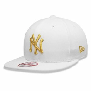 Boné New York Yankees Strapback Gold on White MLB - New Era