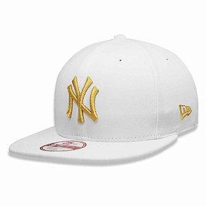 Boné New York Yankees Strapback Gold on White MLB - New Era