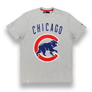 Camiseta Chicago Cubs Basic Cinza - New Era