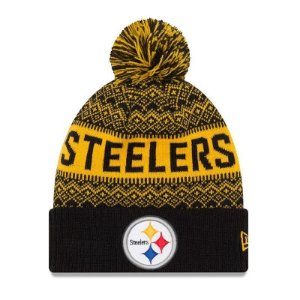 Gorro Touca Pittsburgh Steelers Wintry Pom - New Era