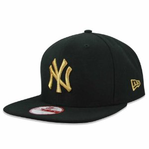 Boné New York Yankees Strapback gold on black MLB - New Era
