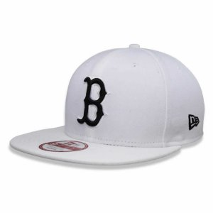 Boné Boston Red Sox strapback Black on White MLB - New Era