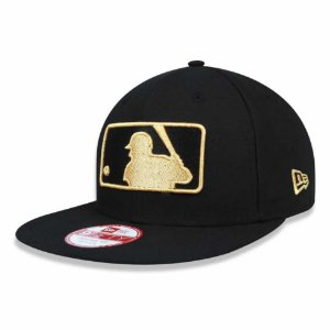 Boné MLB Basic Logo 950 Snapback Preto Batter Man - New Era