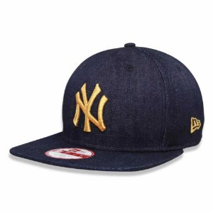 Boné New York Yankees 950 Jeans Logo Gold MLB - New Era