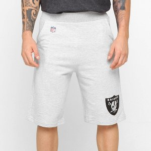 Bermuda Moletom Oakland Raiders Team Cinza NFL - New Era