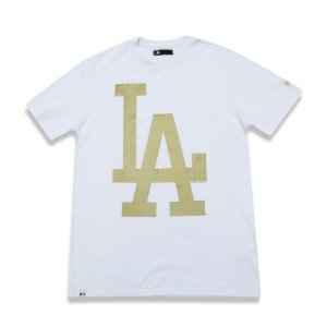 Camiseta Los Angeles Dodgers Color Branco/Dourado - New Era