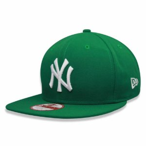 Boné New York Yankees strapback White on Green MLB - New Era