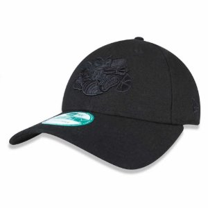 Boné Charlotte Hornets 940 Snapback Black on Black - New Era
