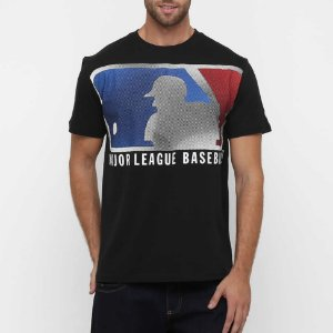 Camiseta MLB Logo Pelicula 21 Preto- New Era