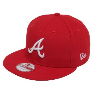 Boné Atlanta Braves 950 White on Red MLB - New Era