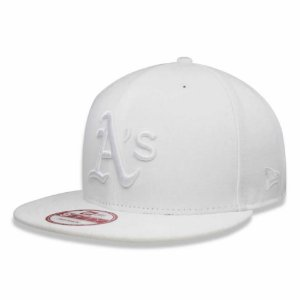 Boné Oakland Athletics 950 White on White Branco MLB - New Era