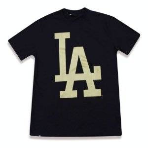Camiseta Los Angeles Dodgers Color Preto/Dourado - New Era