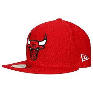 Boné Chicago Bulls 5950 Classic Vermelho NBA - New Era