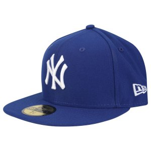 Boné New York Yankees 5950 White on Blue Fechado - New Era