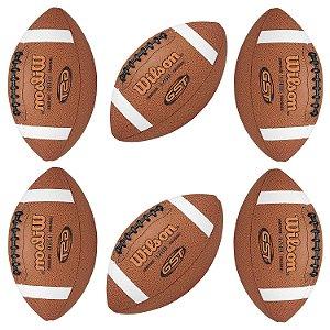 KIT de 6 bolas Futebol Americano GST Composite NFL - Wilson