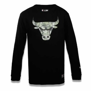 Camiseta Chicago Bulls NBA Polka Camuflada Preto - New Era