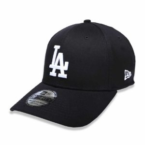 Boné Los Angeles Dodgers 3930 White on Black MLB - New Era