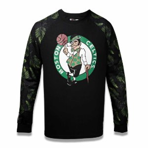 Camiseta Boston Celtics NBA Folhagem Preto - New Era