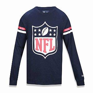 Camiseta Manga Longa NFL Logo Listras - New Era