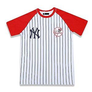 Camiseta New York Yankees Team 34 Branca/vermelha - New Era