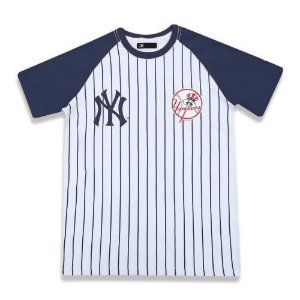 Camiseta New York Yankees Team 34 Branca/Azul - New Era