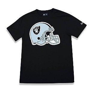 Camiseta Oakland Raiders Helmet Preta - New Era