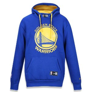 Casaco Moletom Golden State Warriors Raglan Canguru NBA - New Era