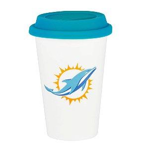 Copo de Café em Cerâmica Miami Dolphins - NFL